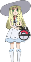 PKMN Sun and moon - Lillie Anime artwork (fanmade) by Aquamimi123