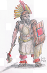 Incan Dwarf Warrior by Lord-Triceratops