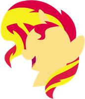 Sunset Head Simple by CaliAzian