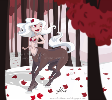 Winter Centaur by kinkei