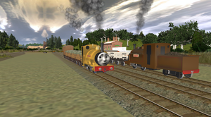 Proteus Taking A Goods Train by EngineNumber14