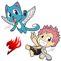 Fairy Tail: Happy and Natsu! by Mewlver82