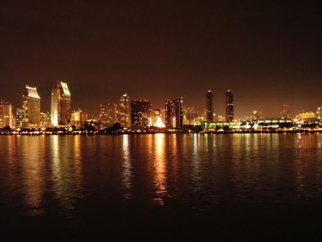 San Diego Downtown at night by bryceguy72