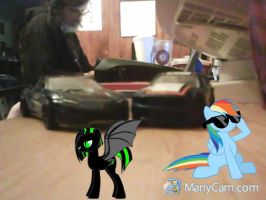 RD and Me With Our own Cars by brony4all