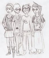 Homestuck gang (odd clothes idk) by comical-lobster