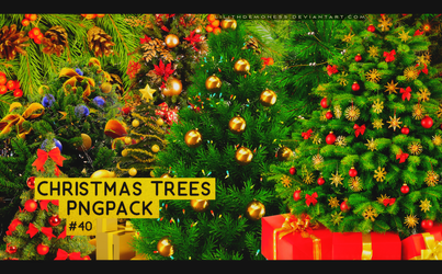 Christmas Trees Pngpack #40 by LilithDemoness