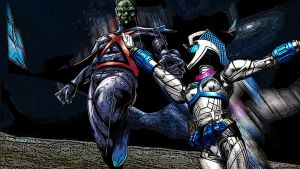 DC Martian Manhunter Vs Kamen Rider Nadeshiko by Digger318