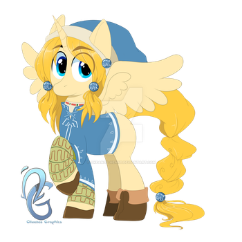 BOTW Pony Design Commission by Okeanos-Heart