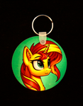 Sunset Shimmer-Key Chain by Art-N-Prints