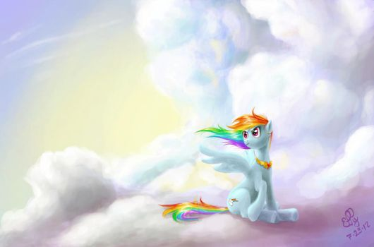 Journey of the Spark - Rainbow Dash by Ellybethe