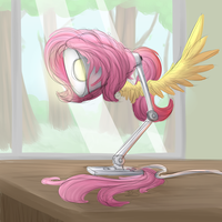 fluttershy except that she's a lamp not a pony lol by VanillaGhosties