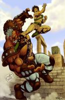 Seiya vs Cassius - Color by RodWolf by RodWolf