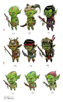 Goblins Concepts by lepetitgroin