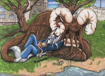 Napping in the City of Heroes by Snow-Jackal