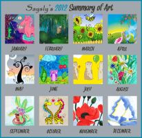 2012 Summary of art by saysly