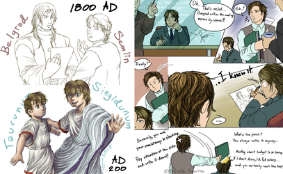 [APH OCs] A Glimpse of Their Lives by SlavaDe