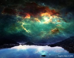 Galaxy Landscape by SvyetaAides