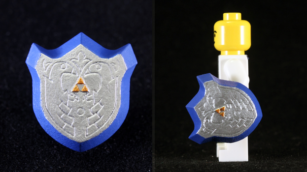 LEGO 3D Printed Painted Mirror Shield by mingles