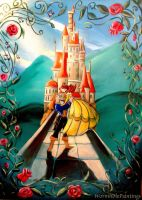 Beauty ad the Beast ^^ by WormholePaintings