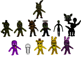 Five Nights at Freddybab's 3 (Wave 1) by BlackFoxPixels