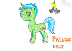 Falling Bolt V2 (NEW CUTIE MARK!) by Brian-the-werewolf