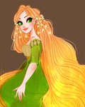Concept Art Rapunzel + SPEEDPAINT by snownymphs