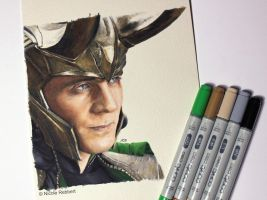 Loki (marker drawing) by Quelchii