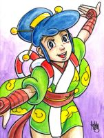 Sketchcard Power Stone Ayame by fedde