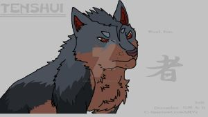 Tenshui - OC (Ginga Wolf) Ms Paint by WonderlandTrades