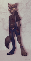 Anthro wolf by LiLaiRa