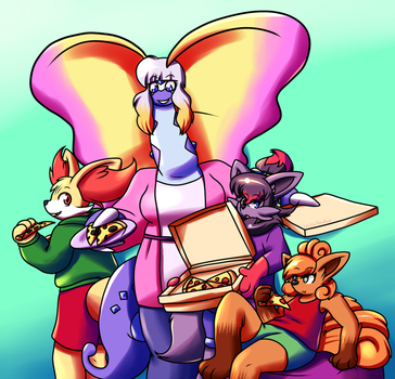 Pizza Party by Inika-Xeathis