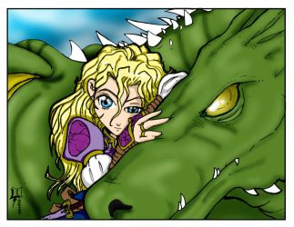 Aimi and the Dragon by TheWebTroll