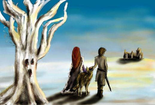 Asoiaf art Lets go home by guad