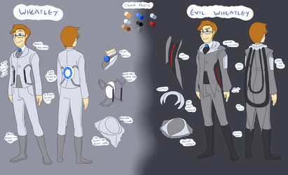 Portal: Wheatley Reference by forte-girl7