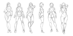 Poses/anatomy Practice by Rosuke97