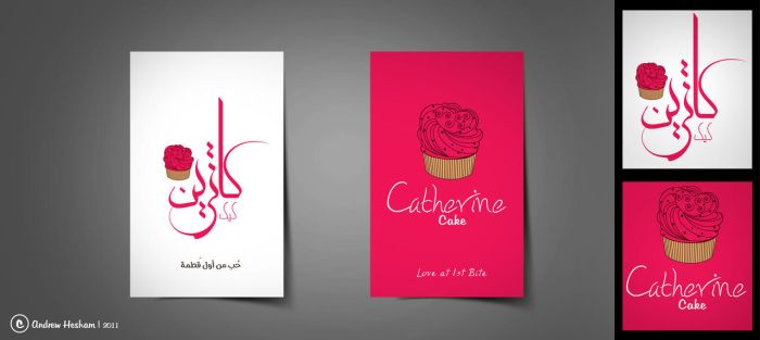 'Catherine cake' business card by AndrewHeSham