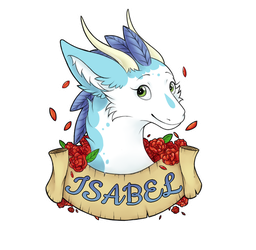 Isabel Fluffy Feathered Dragon Badge by Isabel9819