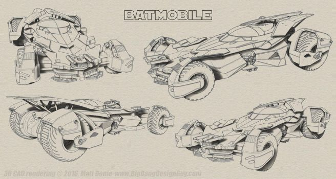 Batmobile Batman v Superman Sketch 01 by Ravendeviant