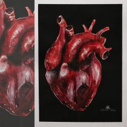 bleeding heart .. from the seriess of anatomical p by MWeiss-Art