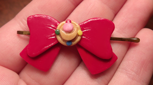 Sailor Moon Bow Clip by HideTheDecay