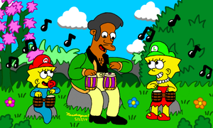 Jamming with Apu by MarioSimpson1