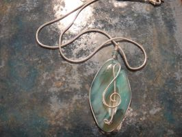 Treble Clef Necklace by clarinetplayer