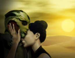 Thane and Shepard - What should have been. by Bronagh-mm