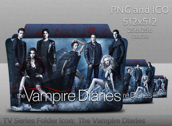The Vampire Diaries Folder Icon by atty12