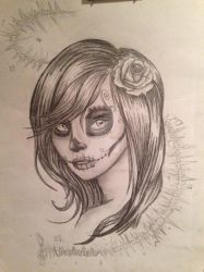 Bright Lights Sugar Skull by OxBloodrayne1989xO