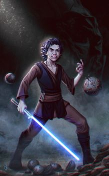 Ben Solo, the angry padawan. by SaraForlenza