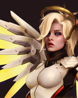 Overwatch: Mercy by ruthiebutt