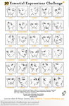 Expressions Challenge Accepted by RinFaye
