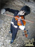 SEBASTIAN MICHAELIS - PLAYING VIOLIN by TakaShinReisa