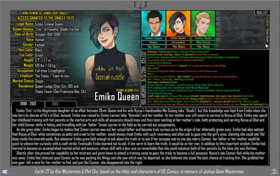 [Earth-27: Oracle Files] Emiko Queen (1/2) by Roysovitch